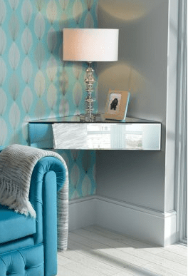 Mirrored floating corner unit, £79.99 from My Furniture