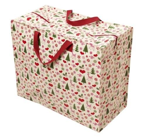 Jumbo storage bag that's ideal for storing Christmas decorations in