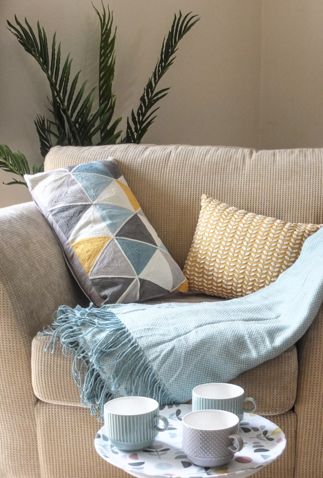 How to update your living room for Spring using affordable home accessories and soft furnishings