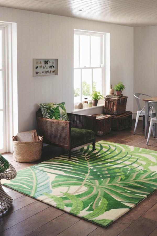 Tropical floor style: Sanderson Manila rug