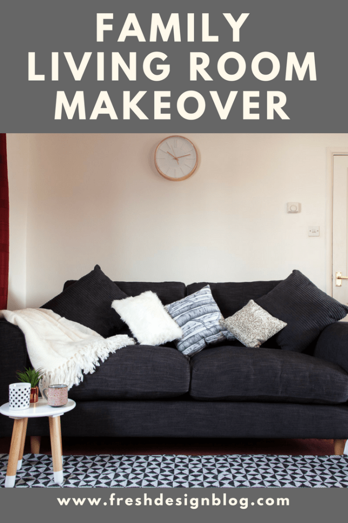 Really achievable family living room makeover using a sofa from Dfs and accessories from TK Maxx