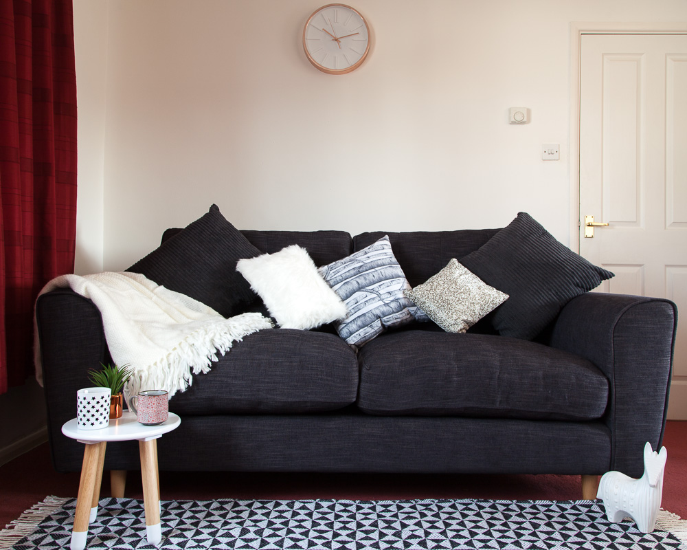 How to hygge your sofa - using cosy cushions and a throw