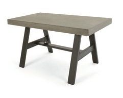 Simple Edson dining table in cement and metal