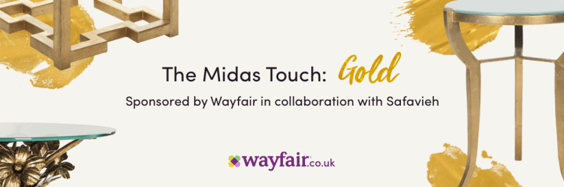 The midas touch - styling a gold side table with Wayfair
