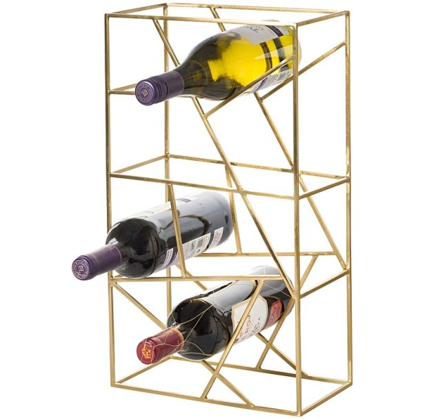 Unusual grid design wine rack for modern entertaining