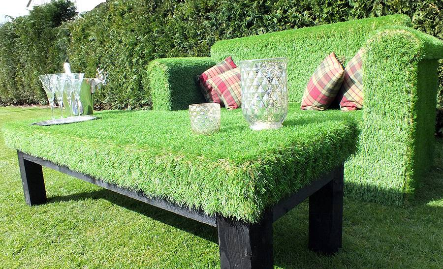 unusual garden chair blue rum quirky furniture made from artificial grass turf fresh super and outdoor sofa