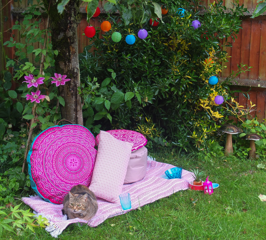 Create a comfy boho style chill out zone in your garden with affordable high street buys