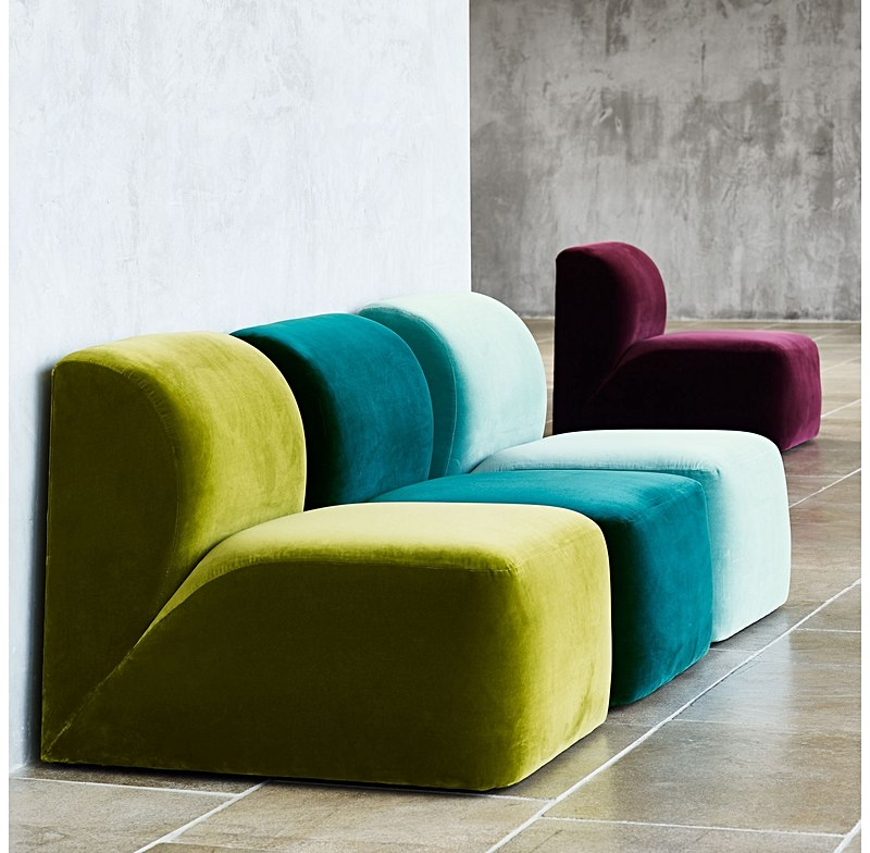 Gorgeous tactile velvet cloud chairs - on trend and luxurious