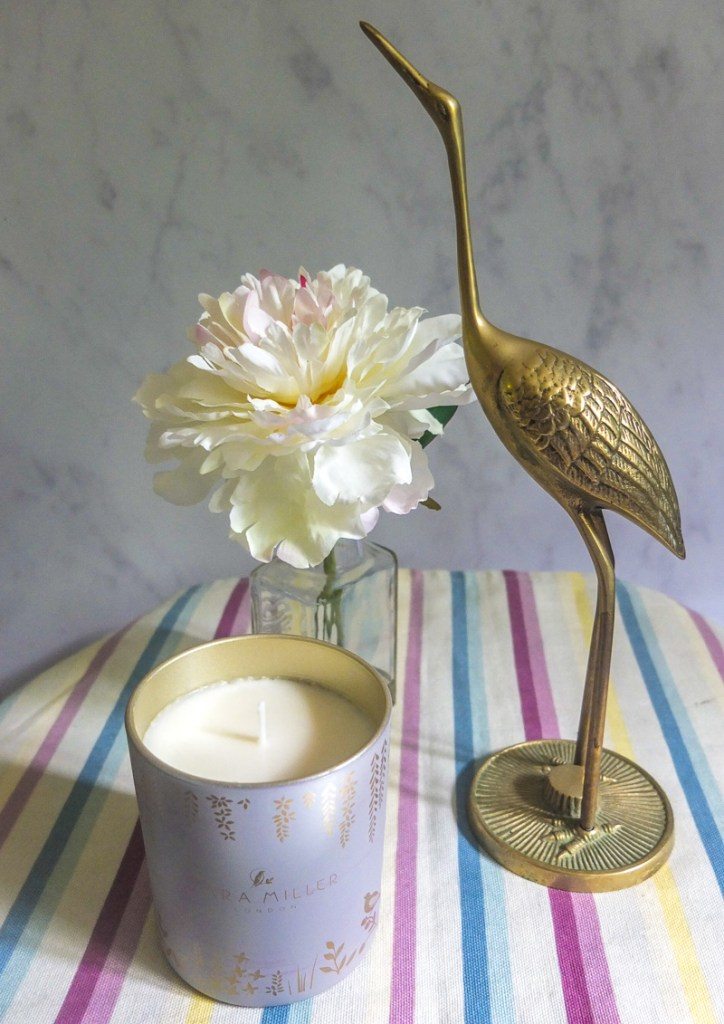 The perfect way of adding fragrance to you home - use a scented candle from Sara Miller London