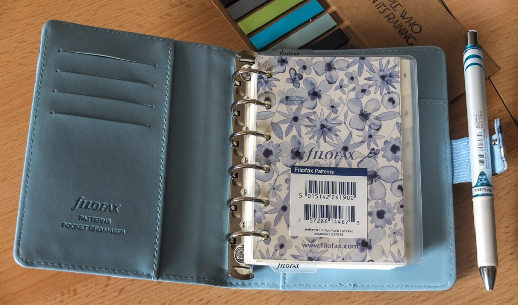 Get your life and work more organised by using a planner, like this Filofax