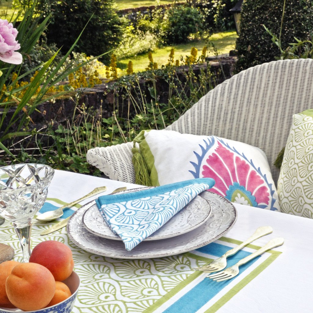 Go bold and add vibrant boho style to your garden with these wonderful textile designs