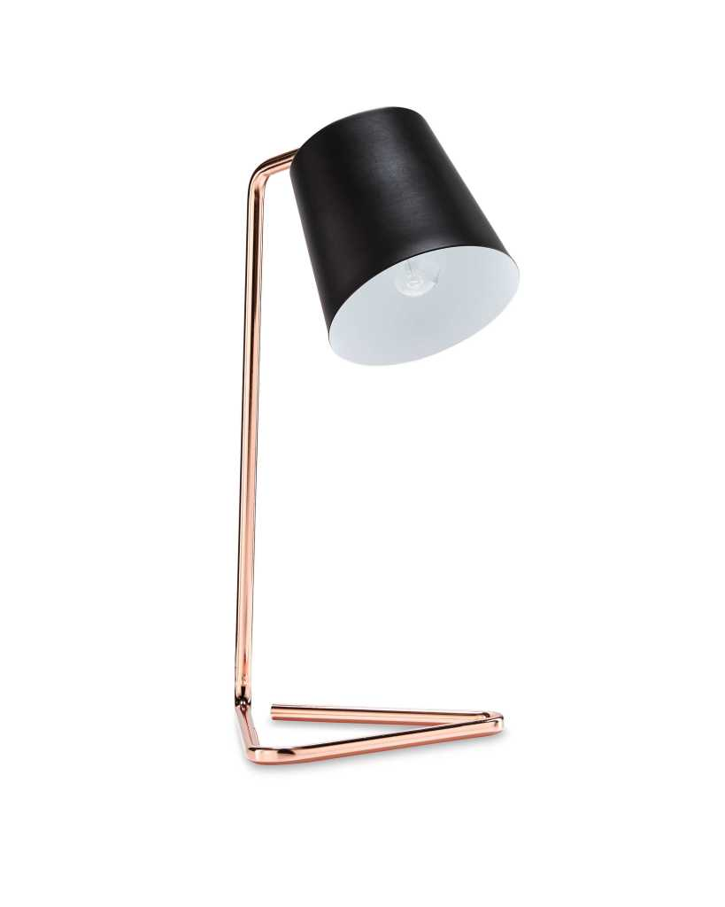 Lovely table lamp that's compact in size and on trend in style. Perfect for a desk or bedside table.