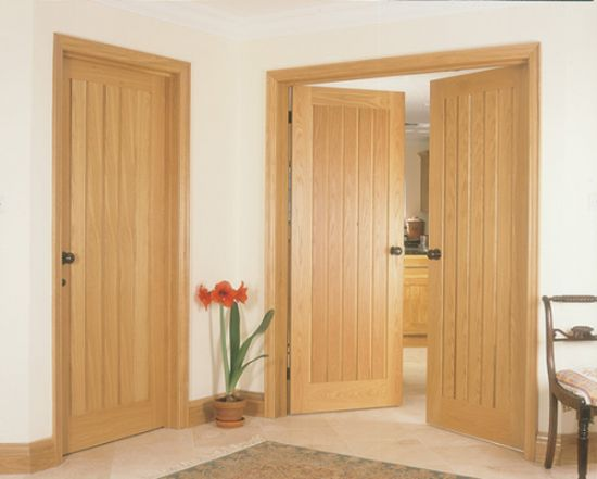 Change boring doors to solid oak to create a wow factor in your home