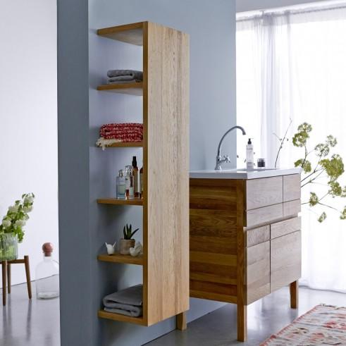 Lovely solid oak minimalist bathroom storage solution from Tikamoon