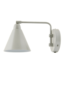 Scandi style pale grey wall light
