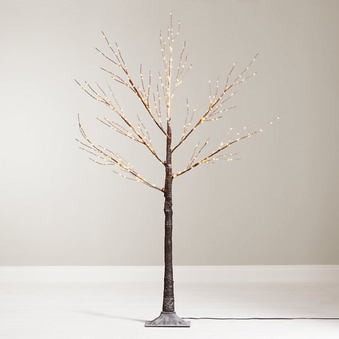 Stunning pre-lit copper birch twig style Christmas tree