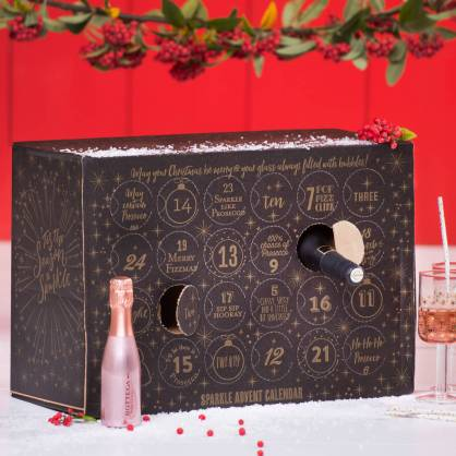 Make advent sparkle with a prosecco and sparkling wine themed advent calendar