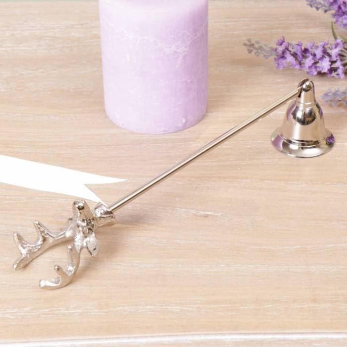 Cute stag head design silver candle snuffer - perfect for safely putting candles out
