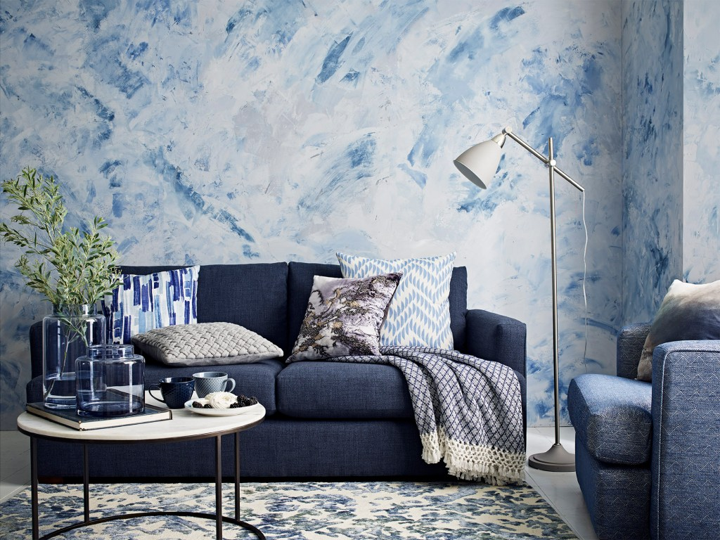 Gorgeous artisan blue colour palette of homeware and accessories from M&S