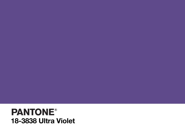 The Pantone Color of the Year for 2018 is the striking purple shade of Ultra Violet