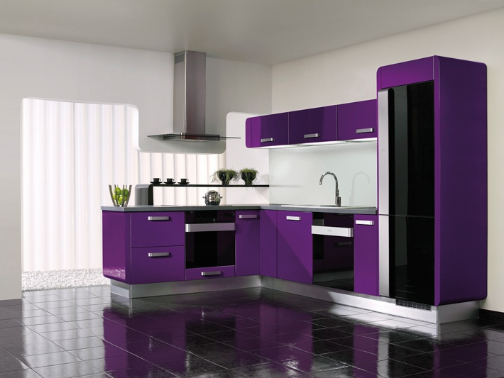 Delta purple kitchen from Gorenje Interior Design