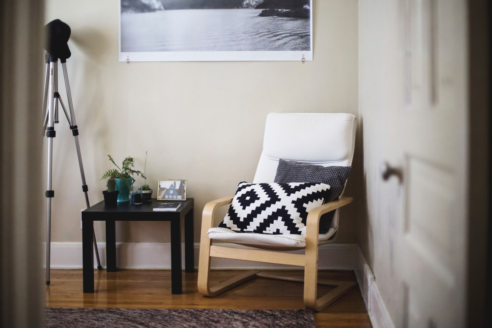 Use a statement piece of furniture such as chair or sofa to provide a focal point in your living room
