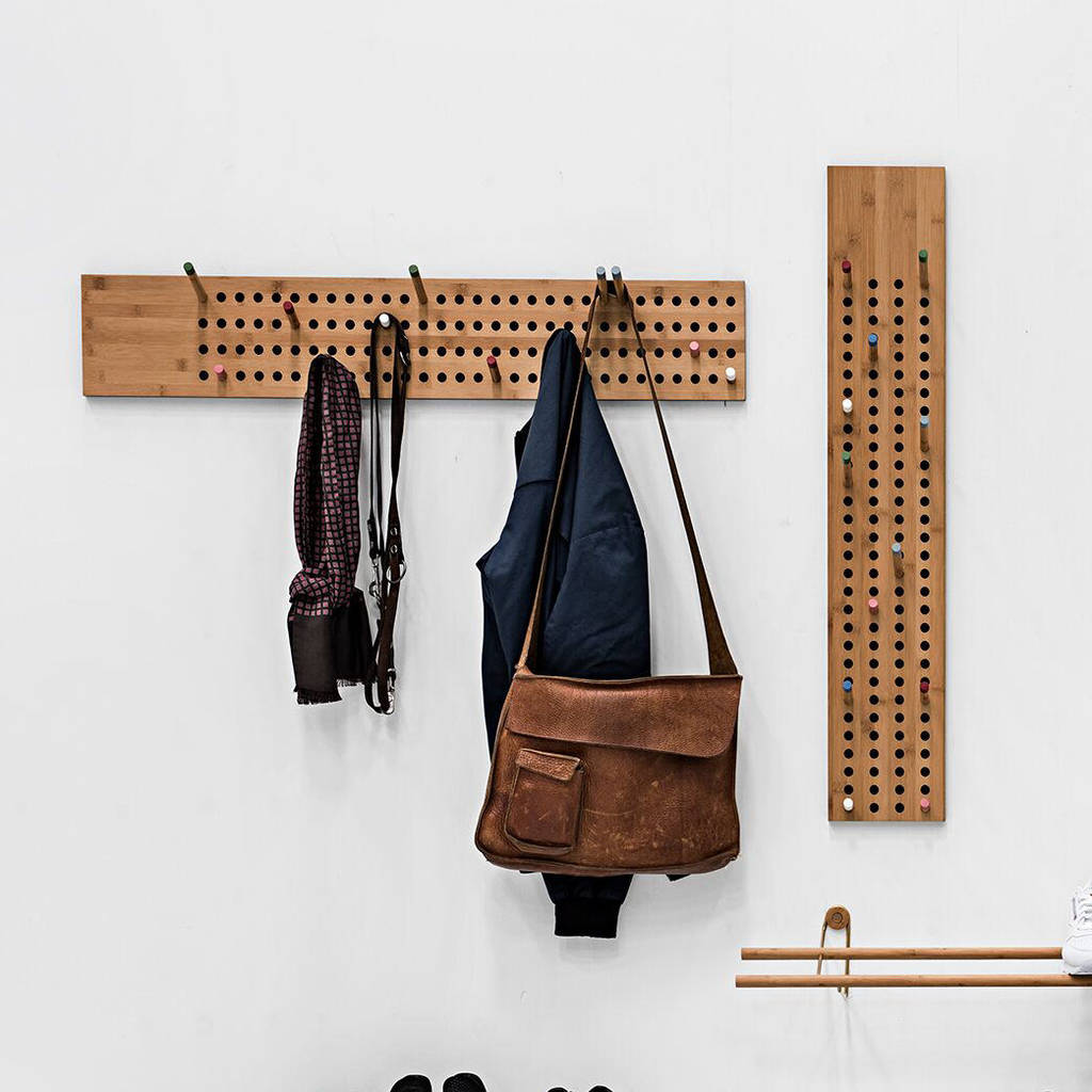 Customisable scoreboard coat rack for quirky home hanging storage