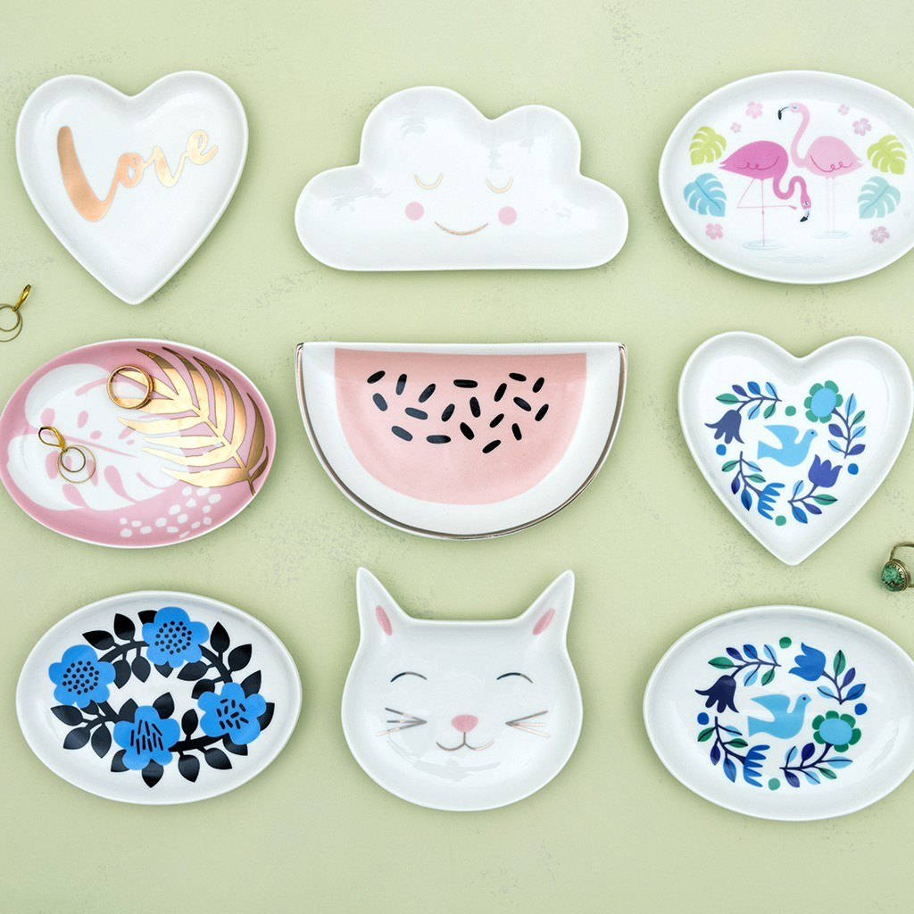 These ceramic trinket trays and dishes are handy to have at home for keys, loose change and jewellery.