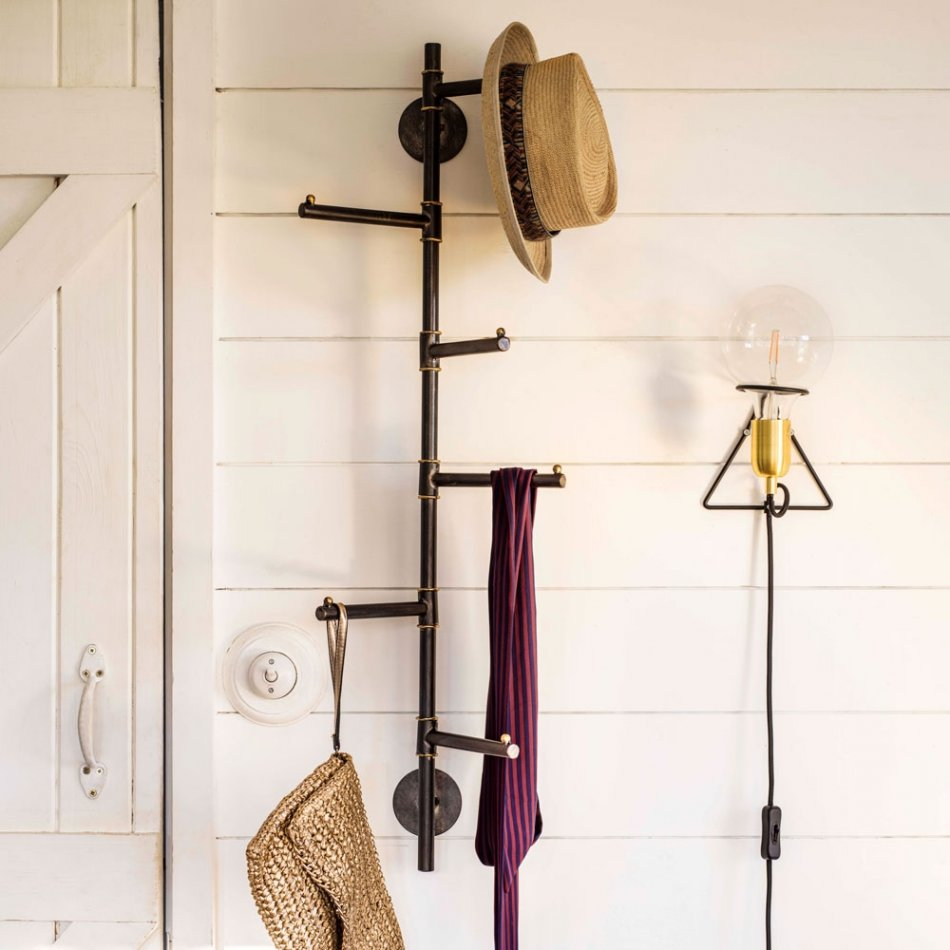 Hang your coats and hats on this quirky industrial style vertical coat rack