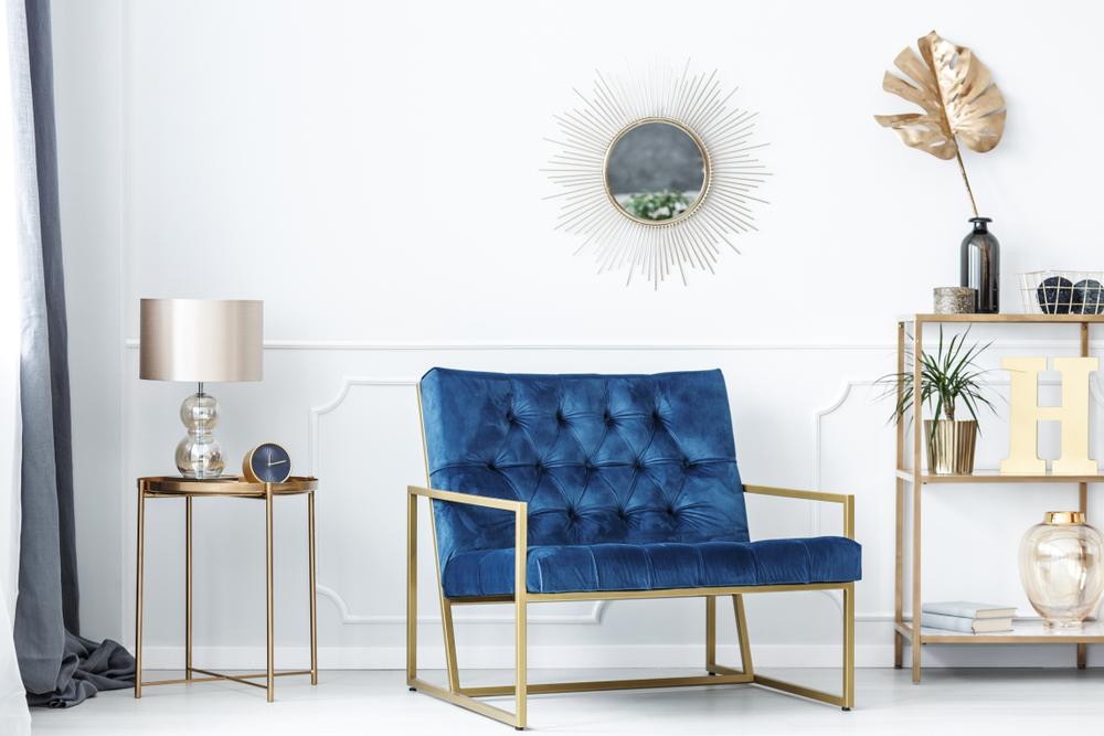 Minimal home interior design schemes can involve colour too