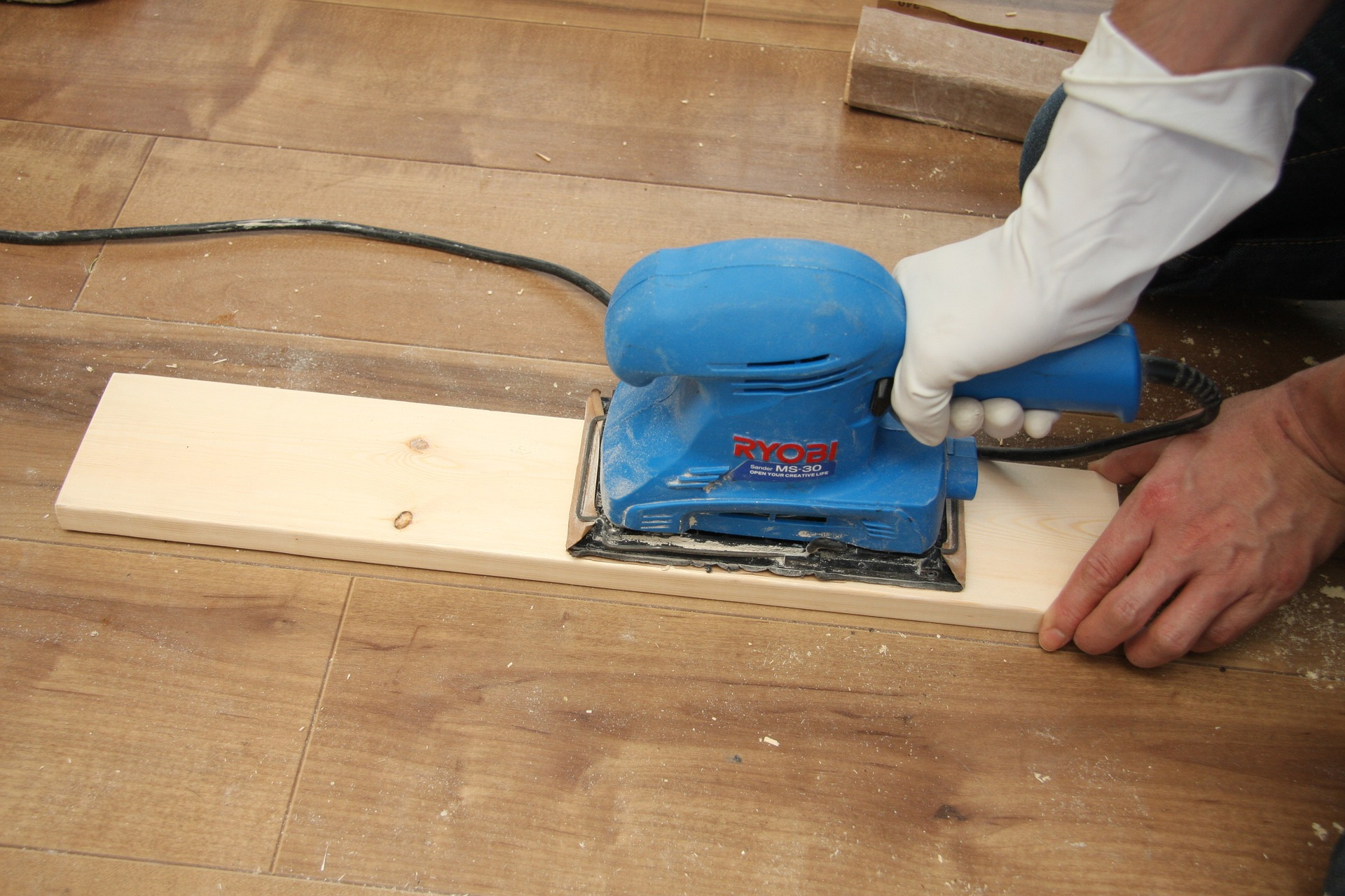 Remember to protect your floor when you're doing DIY at home