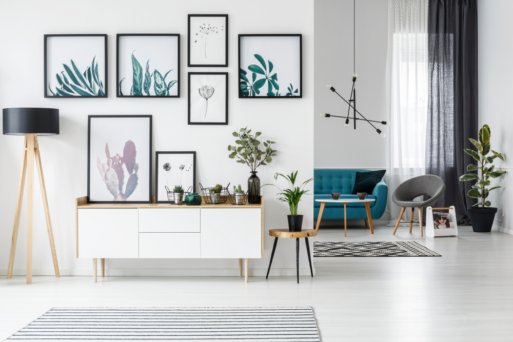 Having neutral walls in your home allow you plenty of opportunity to add colour and design through furniture, art and accessories