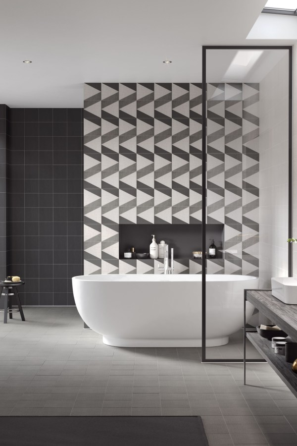 Create textured effect decor on walls and floors with Texxtile Tiles