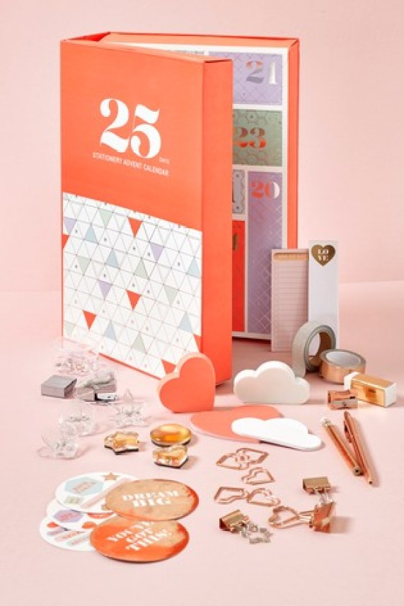 Affordable stationery advent calendar produced and sold by Next