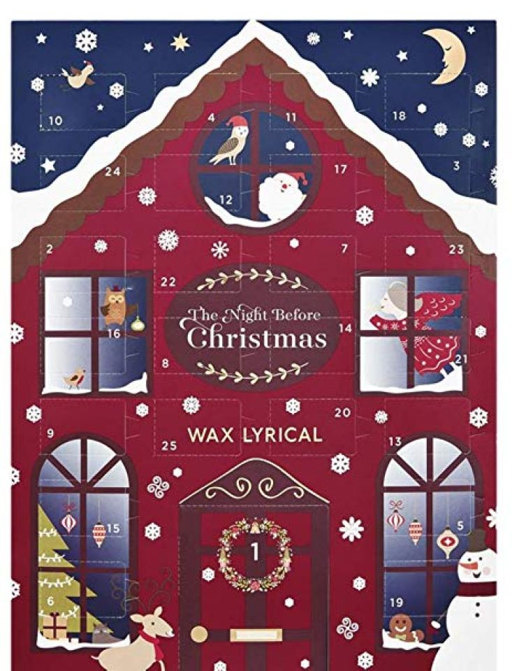 Night Before Christmas advent calendar by Was Lyrical, filled with scented tealight candles