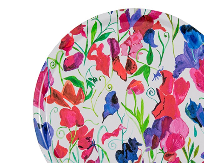 Floral tray designed by glass designer Emma Britton