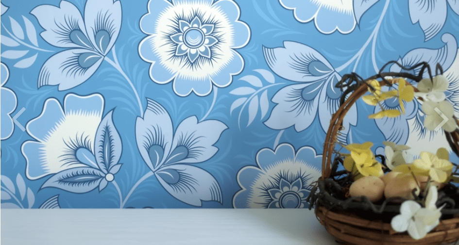 Stunning wallpaper with Russian influences by Olenka Design