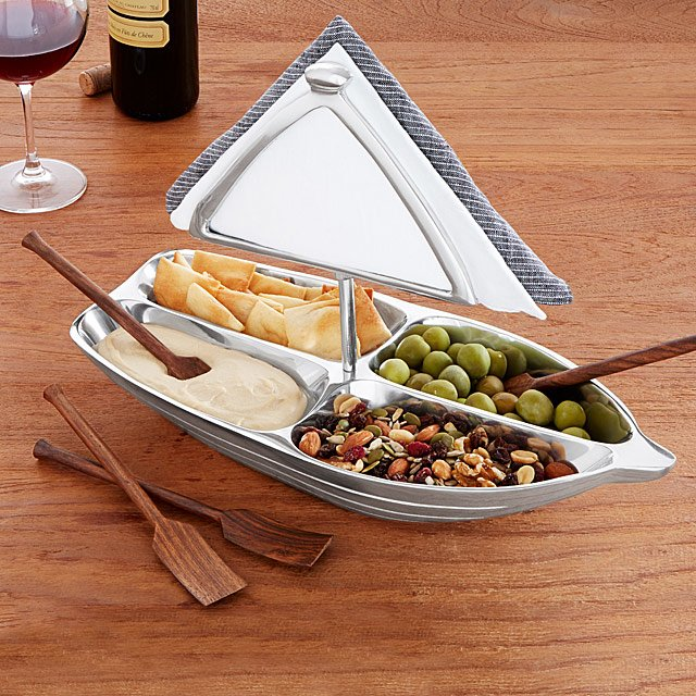 Uncommon Goods have some great quirky serveware ideas, like this nifty sailing boat design piece.
