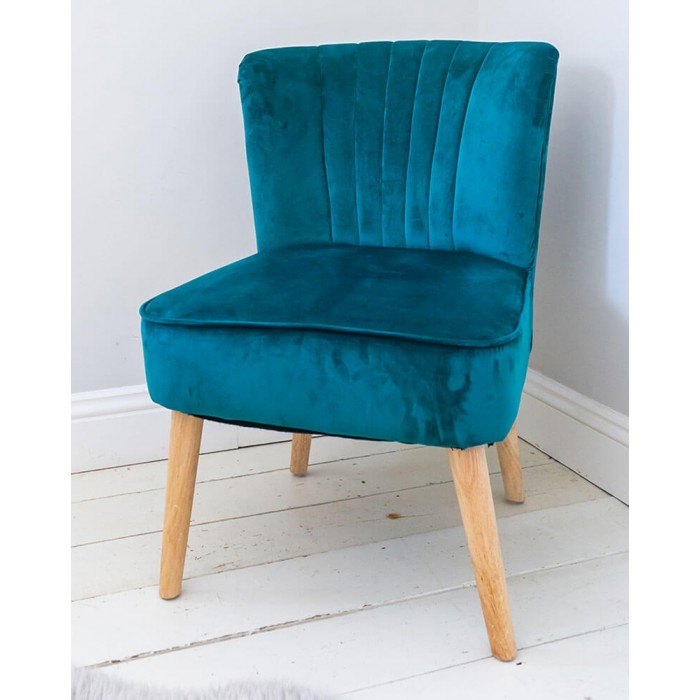 Support a good cause by buying this velvet oyster 50s style chair from the Sue Ryder charity shop online