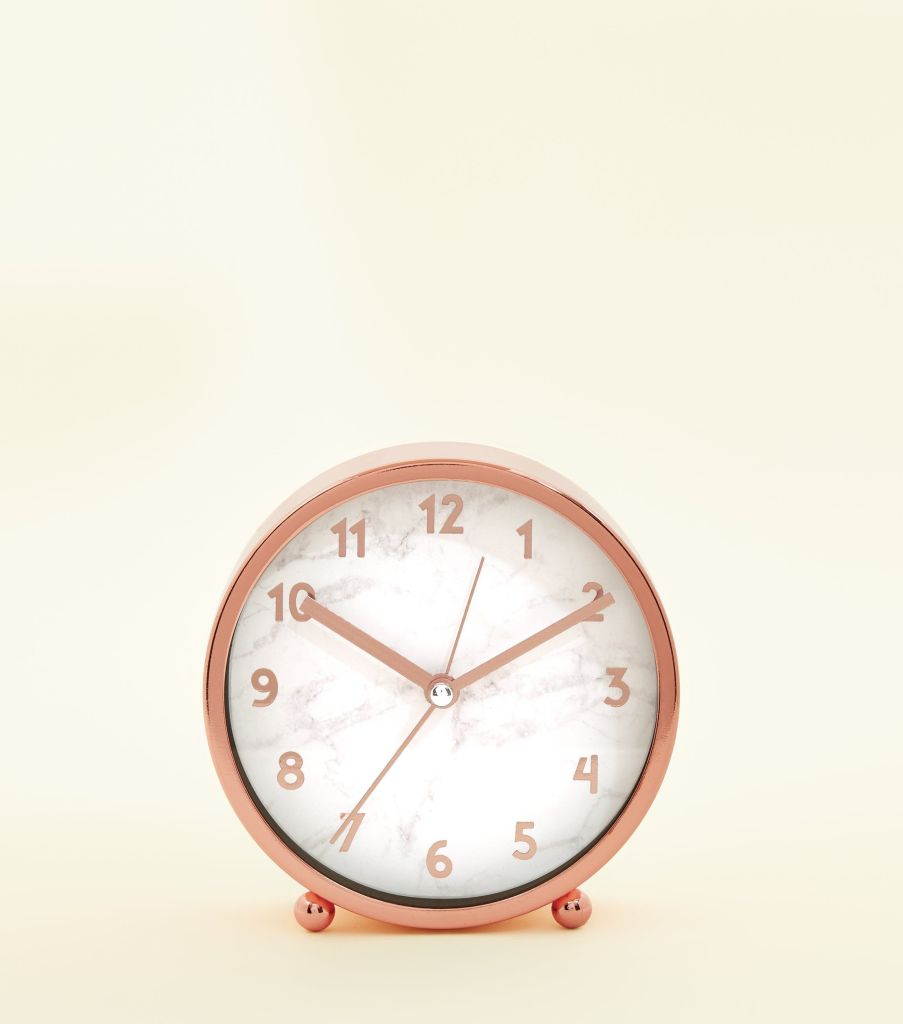 Get the look for less with this rose gold and marble effect clock - it's very well priced and affordable