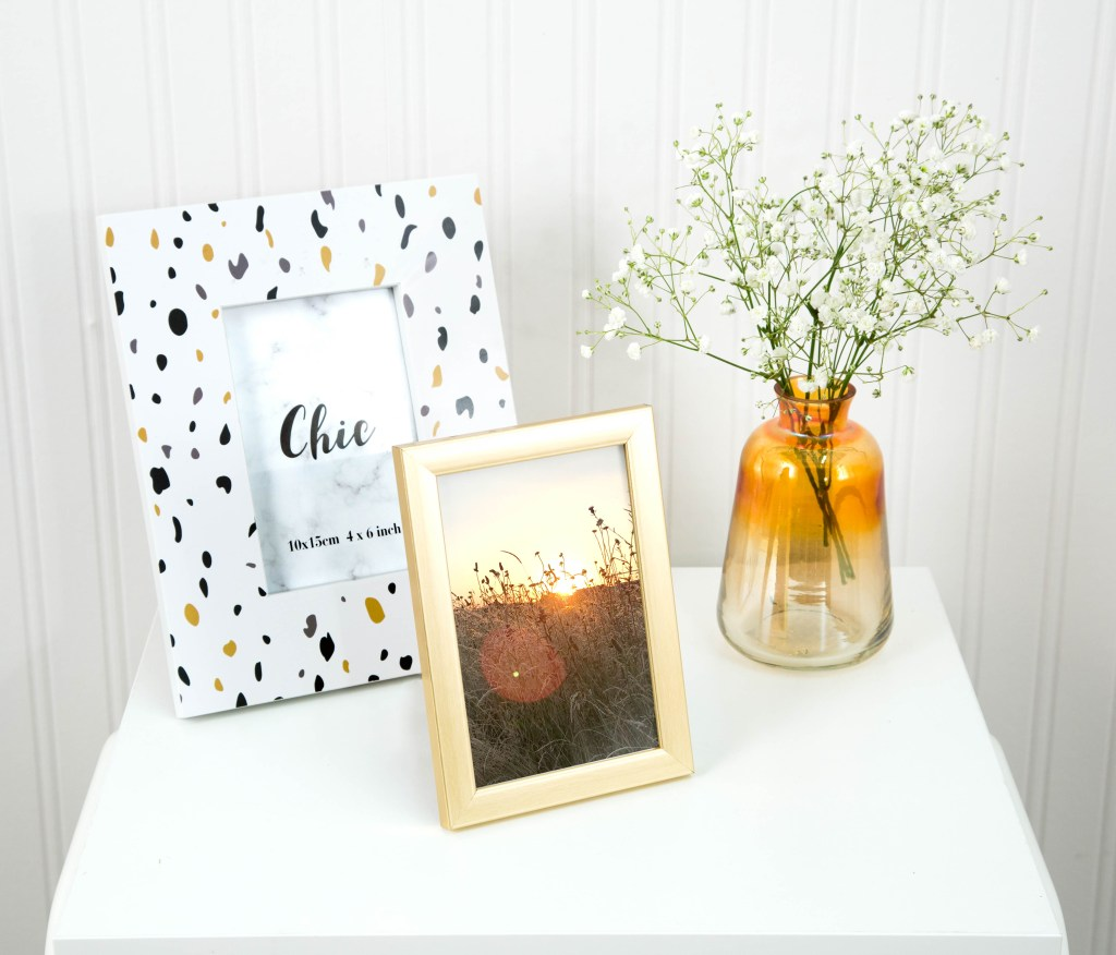 Update your photo frames and invest in a vase or two to update your home on a budget for Spring