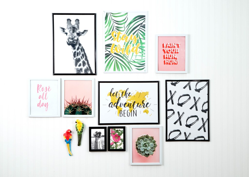 Lovely gallery wall affordable homeware ideas from Poundland