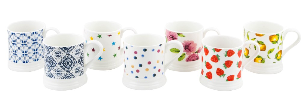 Would you believe these mugs are from Poundland? They're nicely designed and have a substantial shape to them