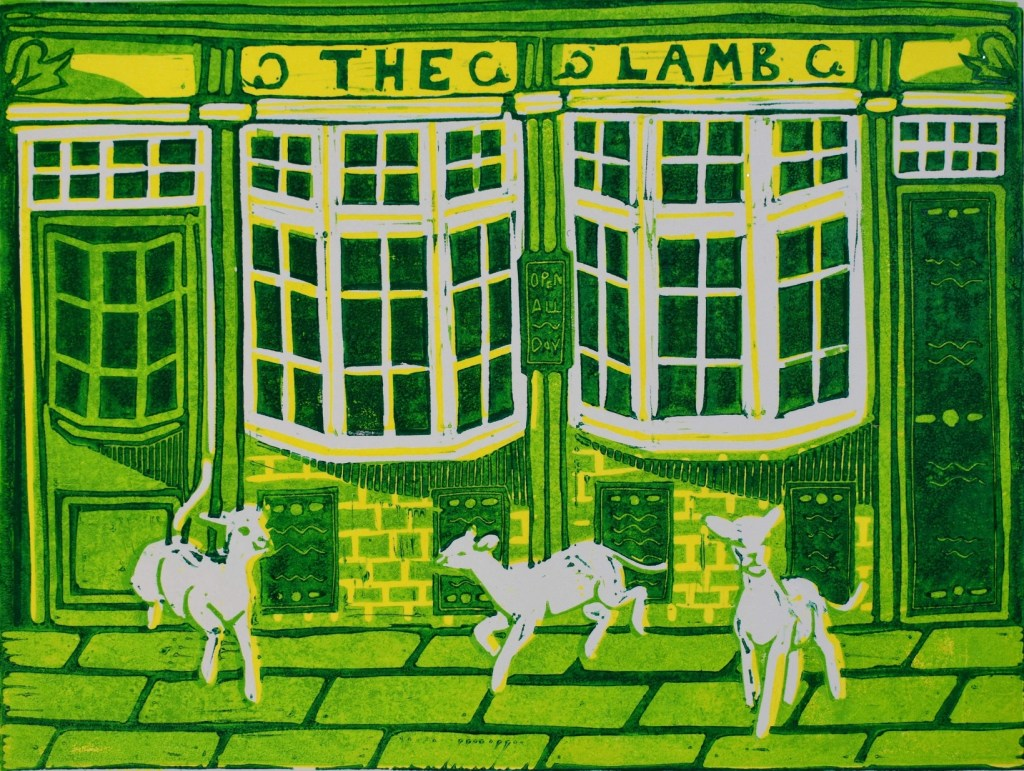 Lino print by Debbie Chessell