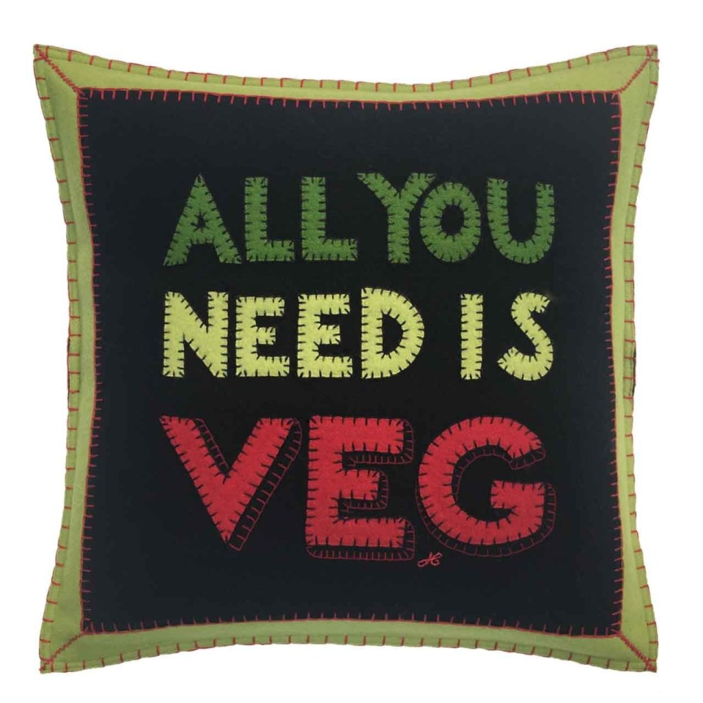 All you need is veg cushion from the Jan Constantine vegetable collection