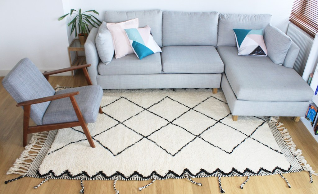 The Youness Berber rug is a lovely example of a classic artisan made Moroccan rugs