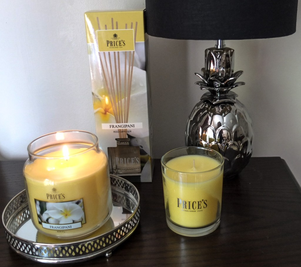 Price's Candles home fragrance products come in a variety of candle shapes and sizes and room diffusers