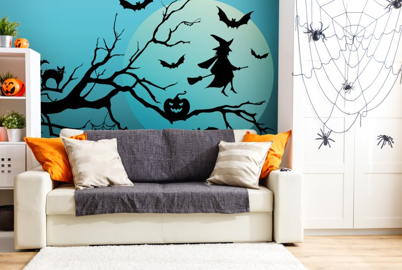 Give your Halloween party the ultimate decoration with this removable wall decal