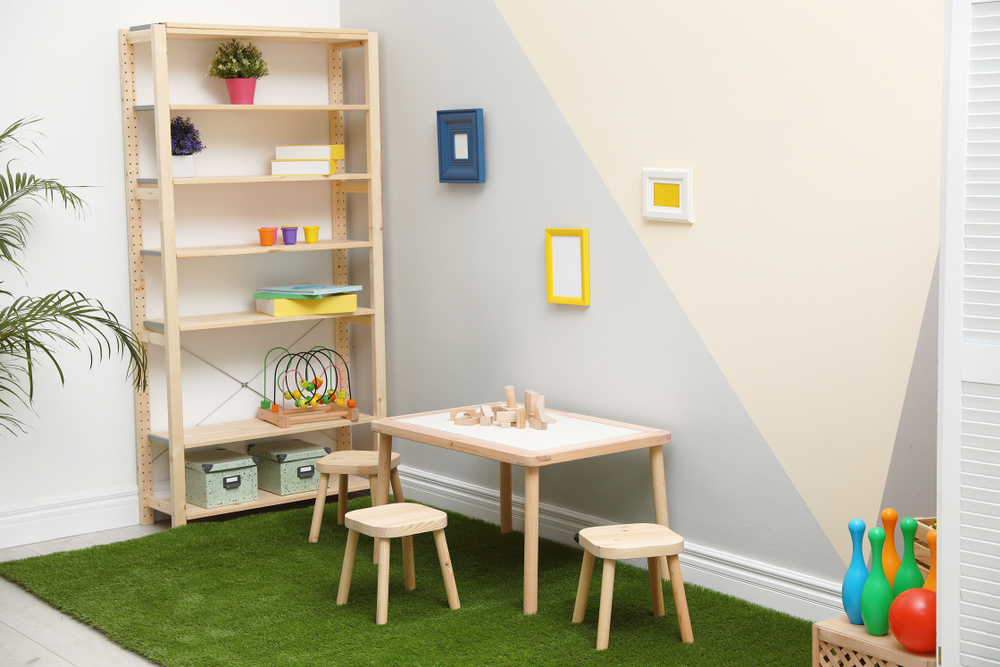 If your shed is an unused space, why not convert it into a playroom for your children?