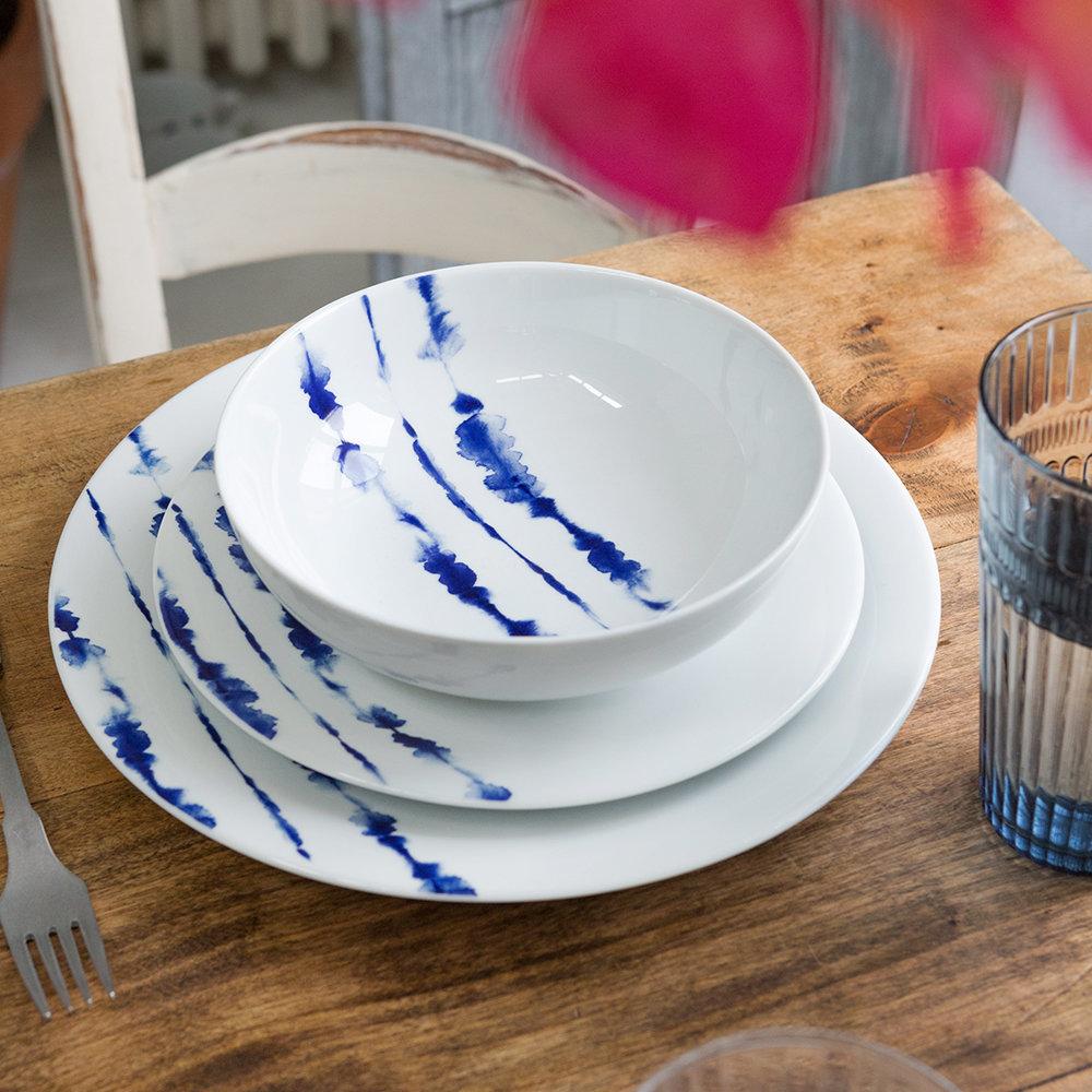 A by Amara fresh blue tableware in the coast design